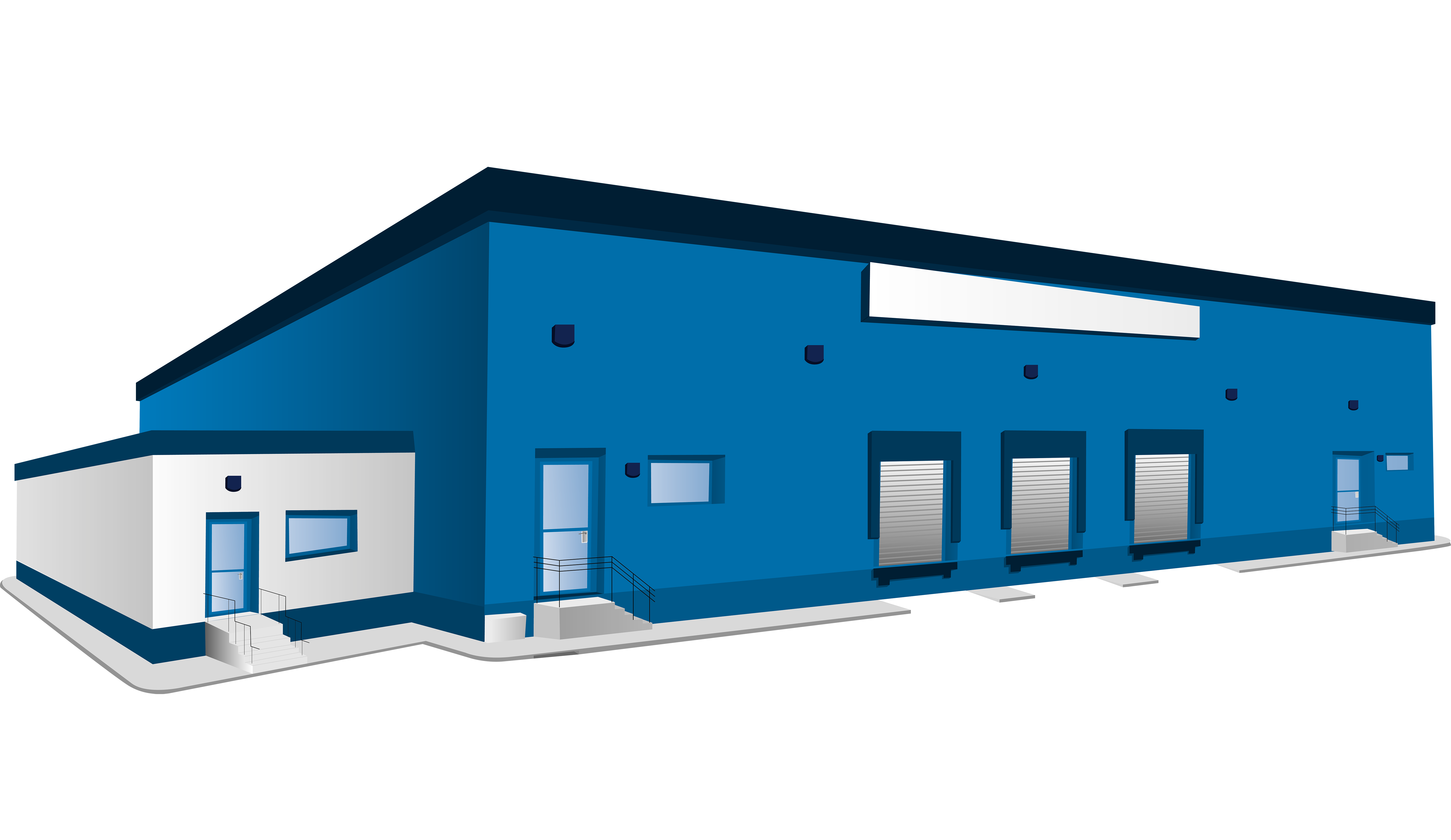 House roof clipart image freeuse library Warehouse Logistics Building Clip art - Blue warehouse 6000*3478 ... image freeuse library