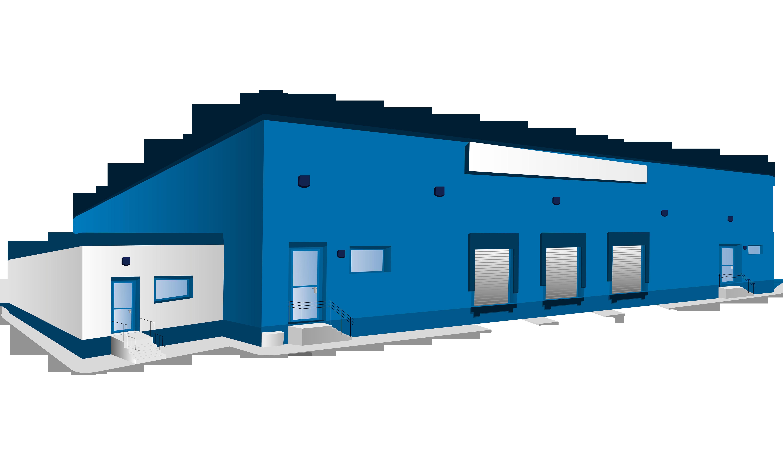 Warehouse Logistics Building Clip art - Blue warehouse 6000*3478 ... image freeuse library