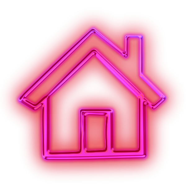 House shape clipart clipart library Glowing Purple Neon Icon Business Home Pink | Free Images at Clker ... clipart library