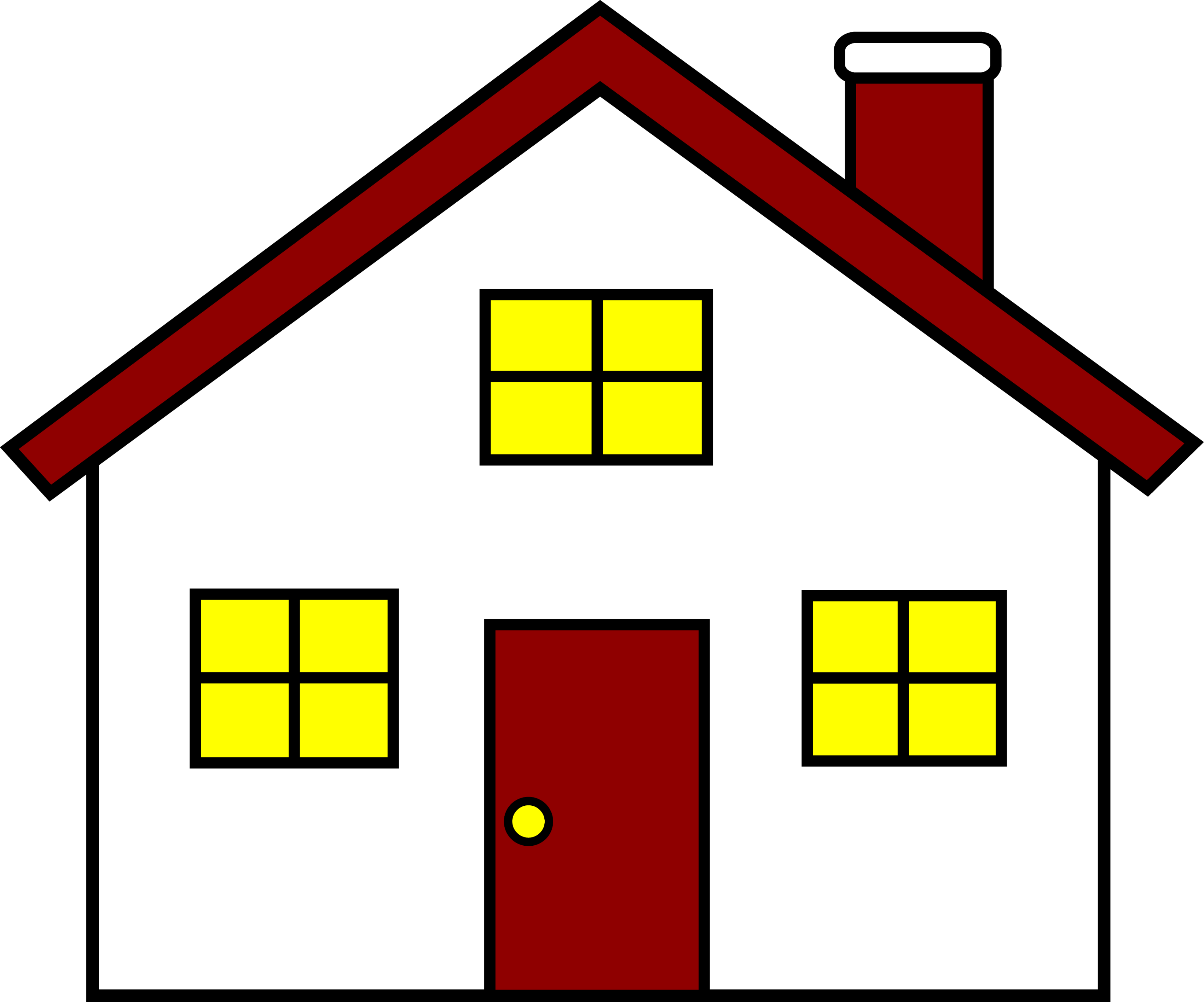 Side view of a house clipart banner black and white library 28+ Collection of Side View Of House Clipart | High quality, free ... banner black and white library