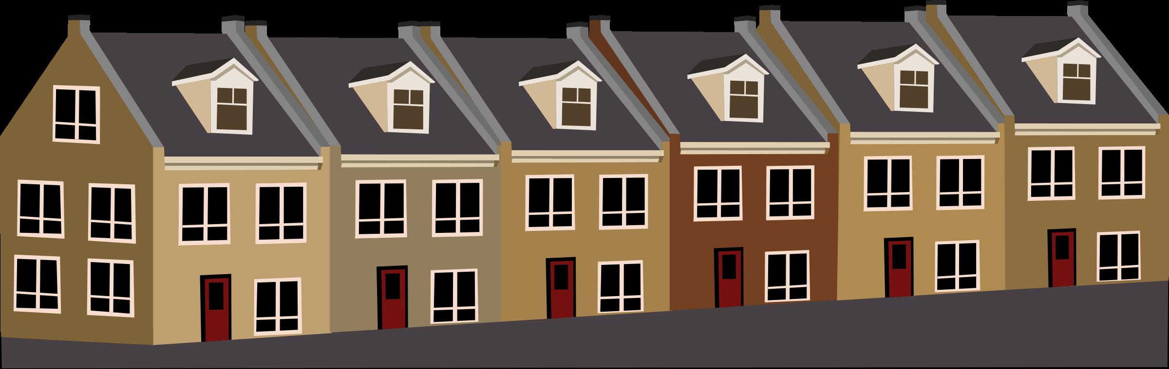 House siding clipart clipart transparent Clipart - Tarraced houses clipart transparent