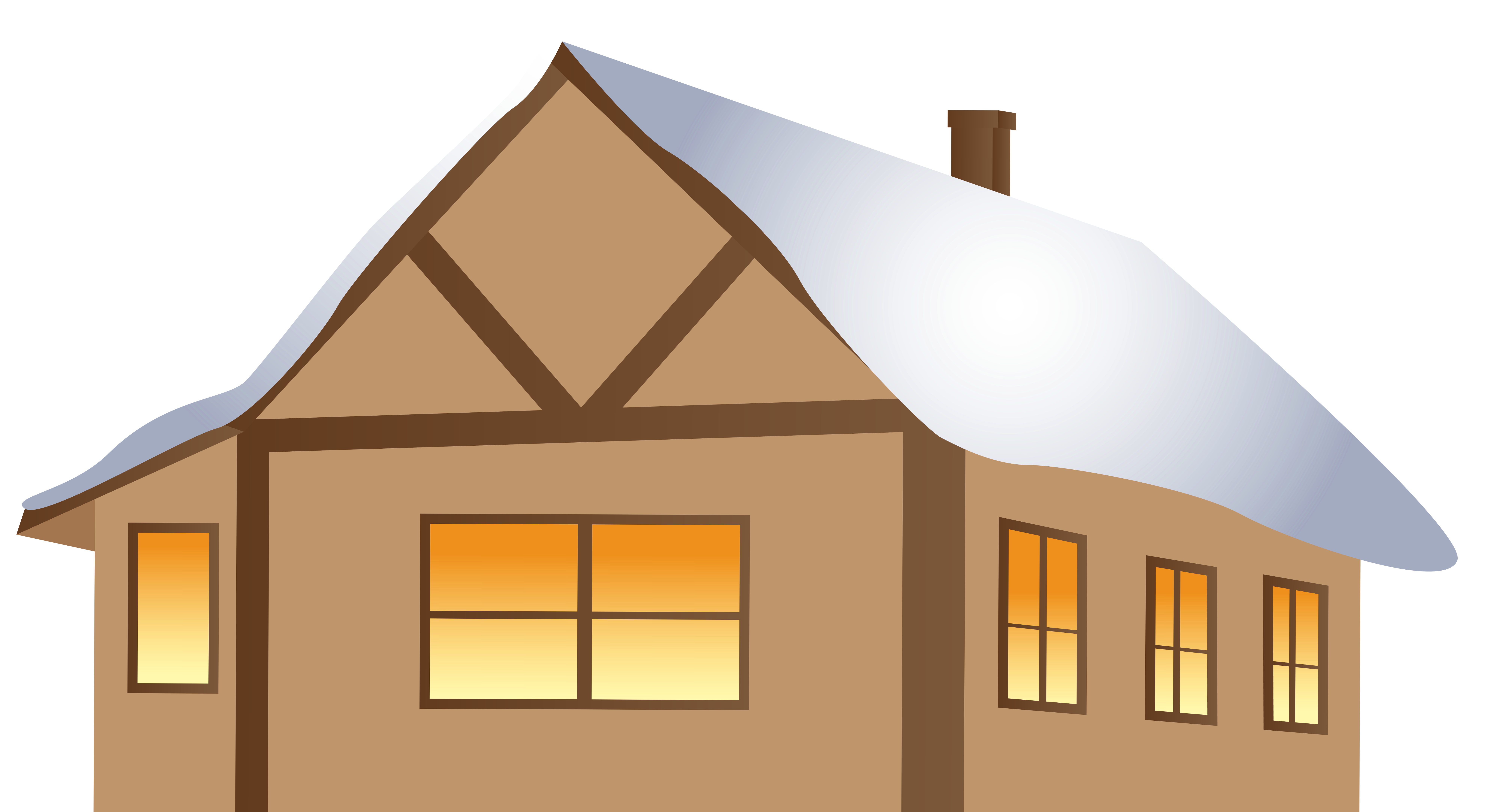 House siding clipart graphic royalty free library Winter Brown House PNG Clipart Image | Gallery Yopriceville - High ... graphic royalty free library