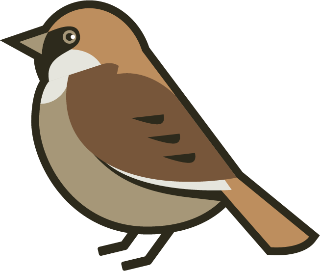 House sparrow clipart jpg black and white library 28+ Collection of Sparrow Clipart Png | High quality, free cliparts ... jpg black and white library