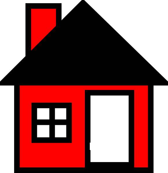 Red House The Clip Art at Clker.com - vector clip art online ... svg transparent stock