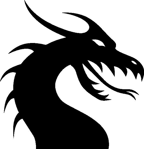 House stark clipart clip art freeuse download silhoutte+drsgon | Dragon Head Silhouette clip art - vector clip art ... clip art freeuse download