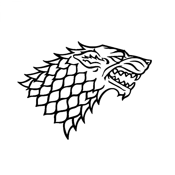 House stark clipart clipart black and white library Stickers Loup House of Stark - Sovalux Stickers | Clip Art | Pinterest clipart black and white library