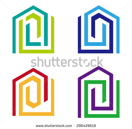 House to use for logo clipart vector black and white library Design Vector Home Logo Template Colorful Stock Vector 150399005 ... vector black and white library