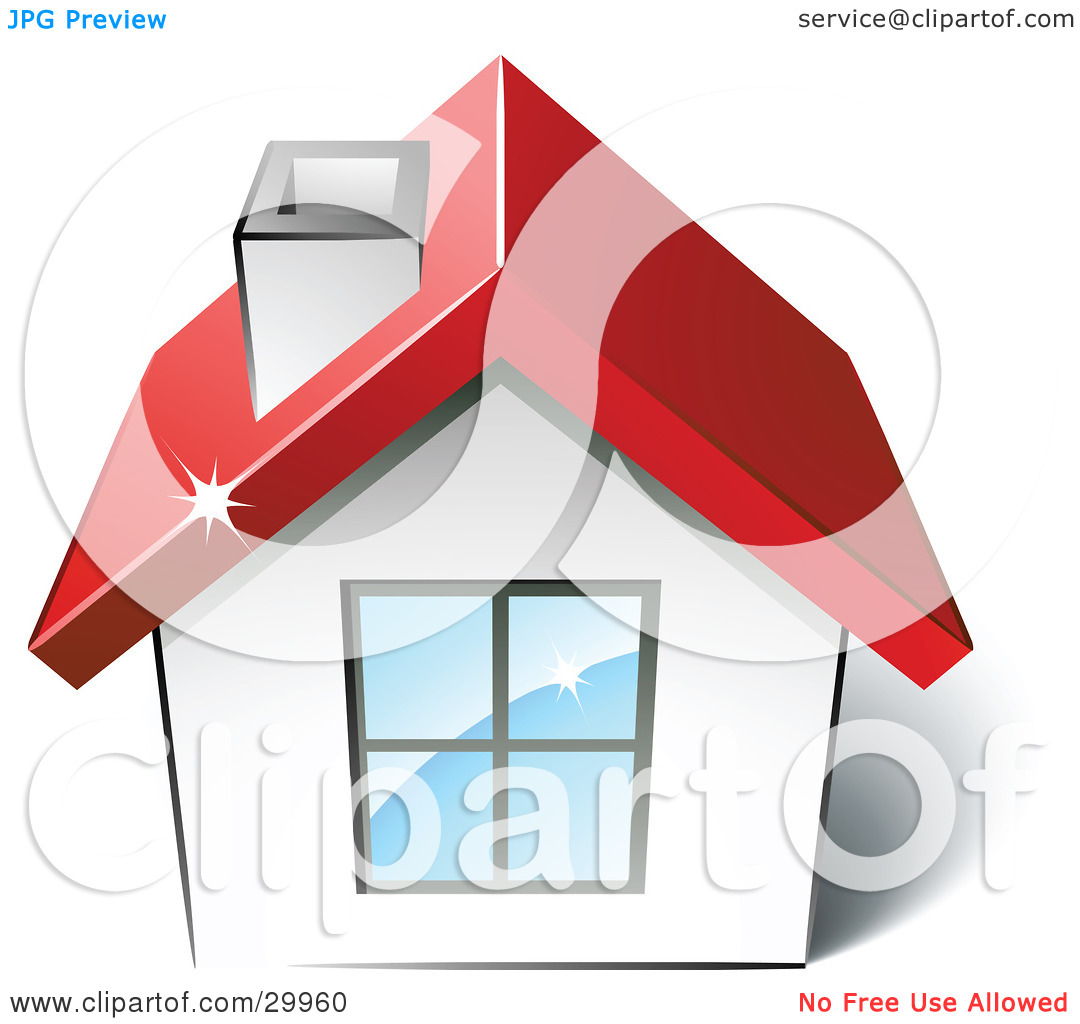 House to use for logo clipart svg black and white download Clipart Illustration of a Pre-Made Logo Of A House With A Red Roof ... svg black and white download