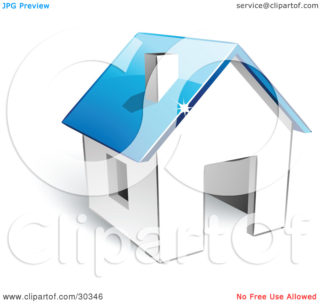 House to use for logo clipart png freeuse download Clipart Illustration of a Pre-Made Logo Of A White Home With A ... png freeuse download