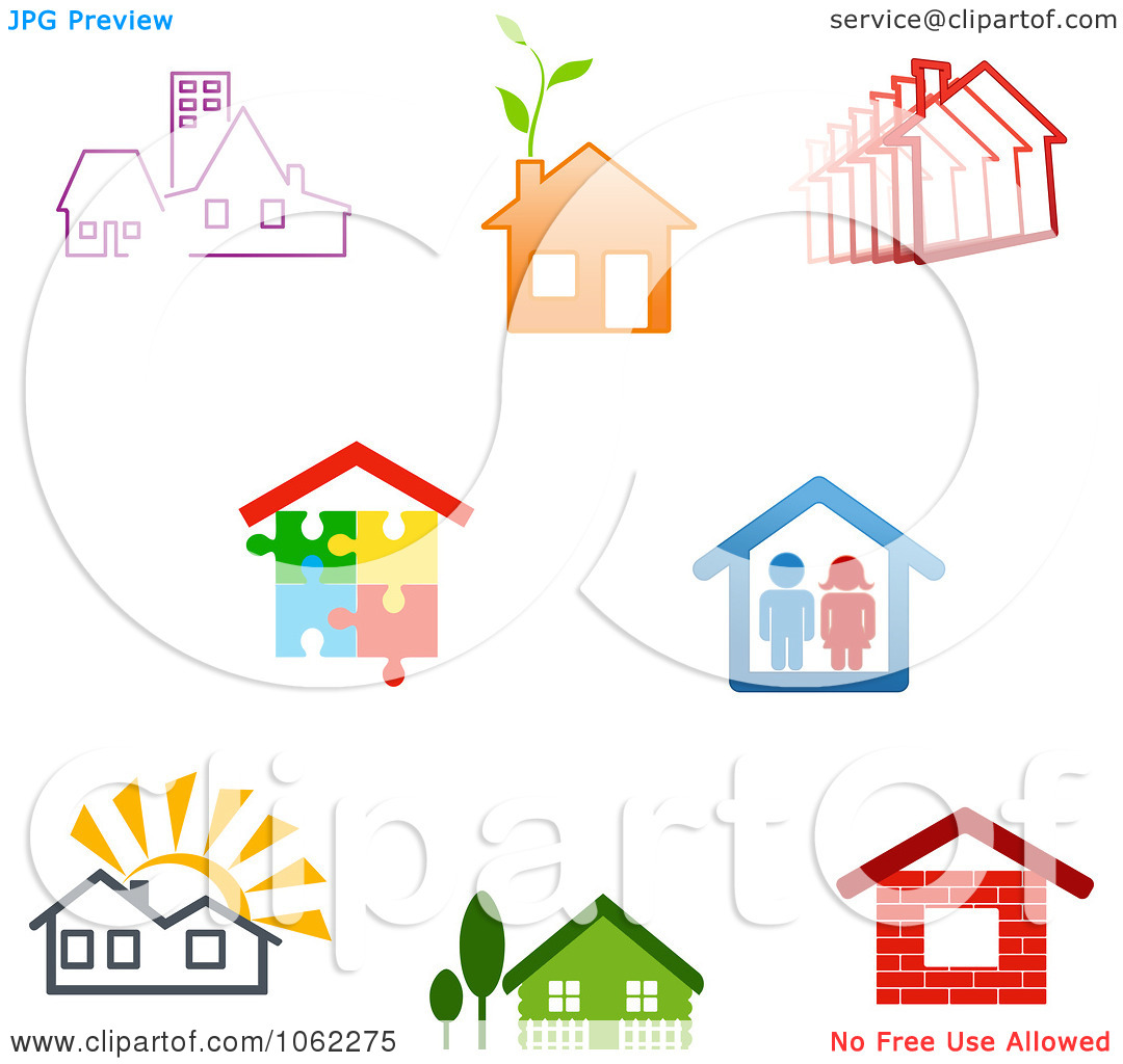 House to use for logo clipart graphic free library Clipart Home Logos Digital Collage 2 - Royalty Free Vector ... graphic free library