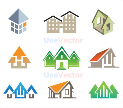 House to use for logo clipart picture free Use free vectors for building's logo picture free