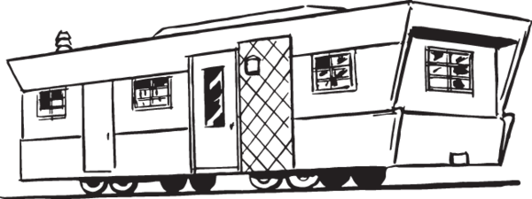House trailer clipart image royalty free download 17RA - house trailer   Clip Art from OldCuts.co   Clip art ... image royalty free download