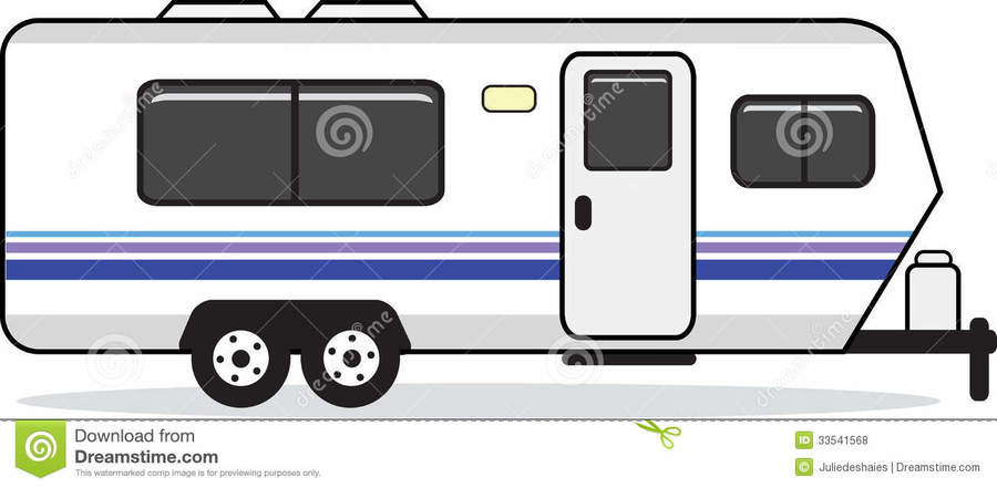 House trailer clipart picture black and white library Download trailer house clipart Mobile home Caravan Clip art picture black and white library