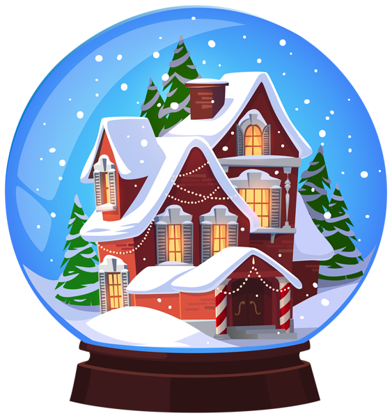 Christmas House Snowglobe Transparent PNG Clip Art Image | Gallery ... png library library