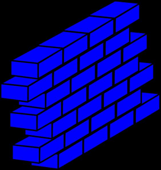 House wall clipart svg transparent Blue Wall Clip Art at Clker.com - vector clip art online, royalty ... svg transparent