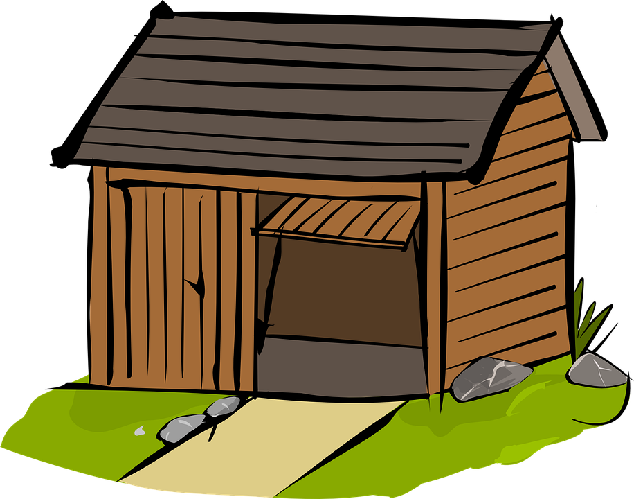 House with chimney clipart jpg freeuse Shelter clipart wooden shack ~ Frames ~ Illustrations ~ HD images ... jpg freeuse