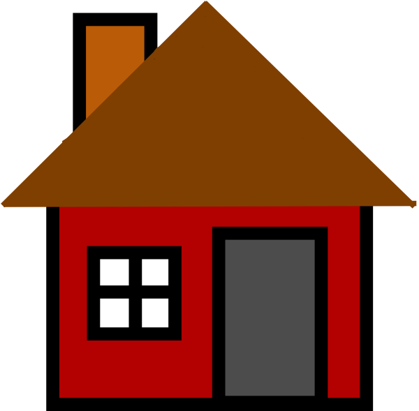 House with chimney clipart vector freeuse stock Home Clip Art at Clker.com - vector clip art online, royalty free ... vector freeuse stock