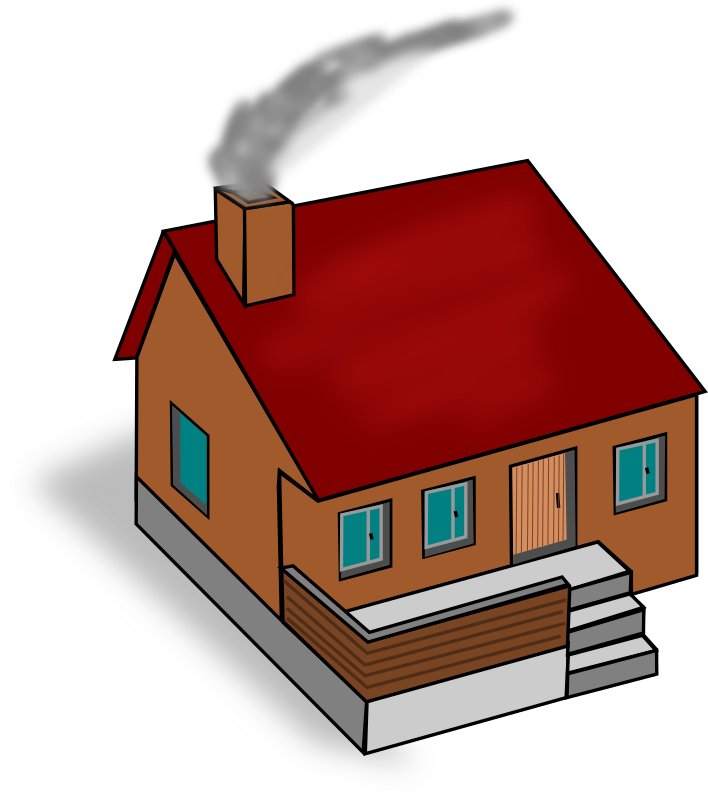 House with chimney clipart vector free download Clipart - House vector free download
