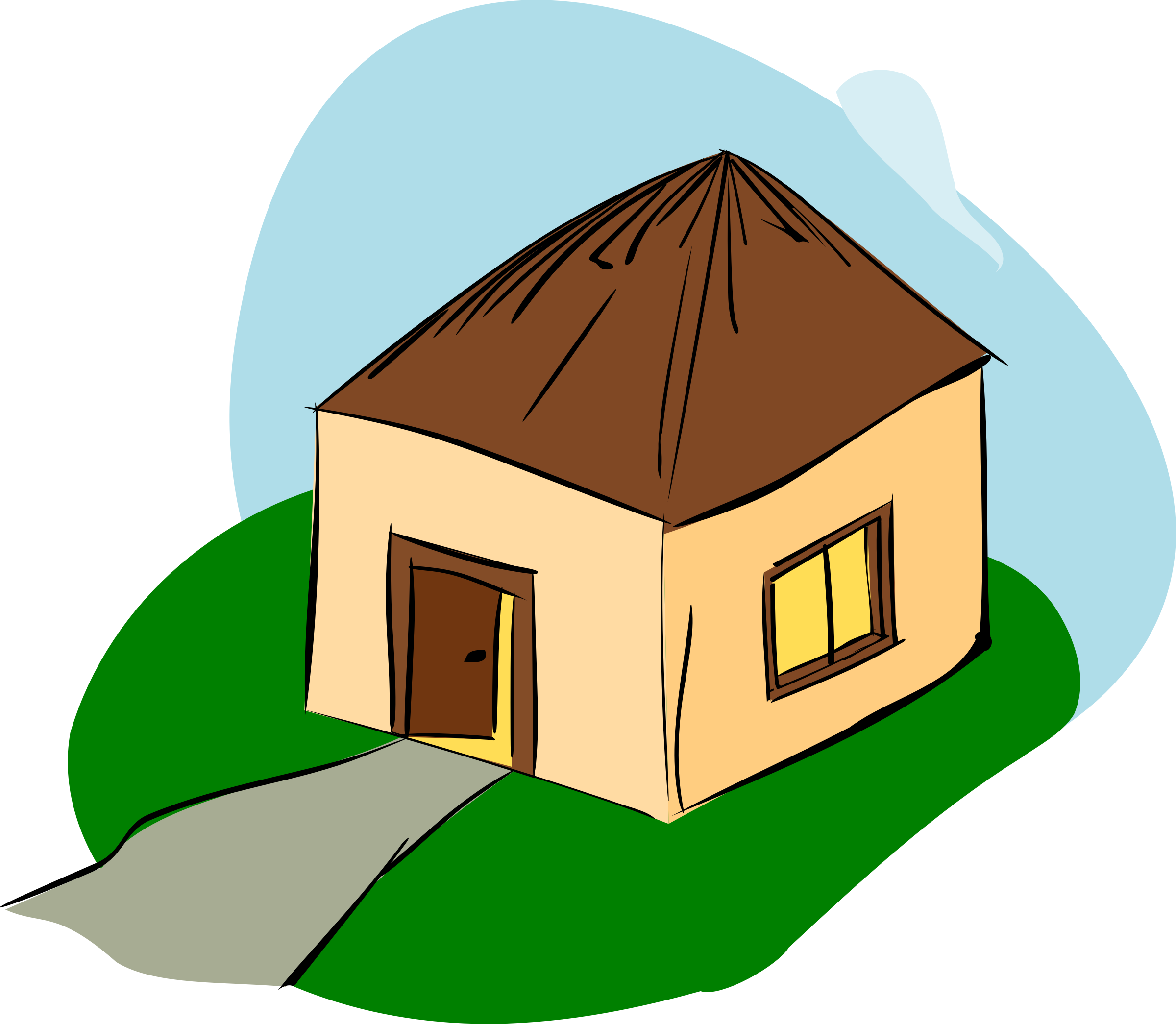 Stylized house clipart graphic royalty free Shack Clipart Country House Free collection   Download and share ... graphic royalty free