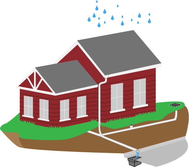 House with foundation clipart clip transparent download Drainage Engineering | Basement Flood Protector clip transparent download