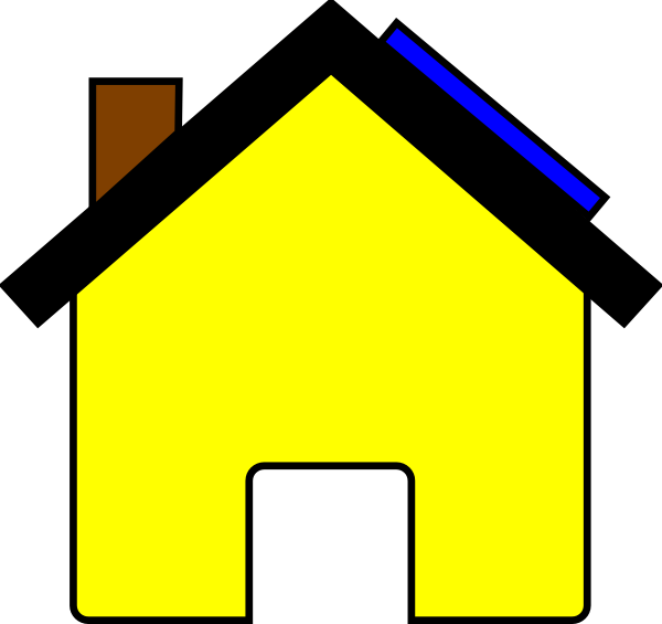 House with solar panels clipart clip art library Solar Garage Clipart clip art library