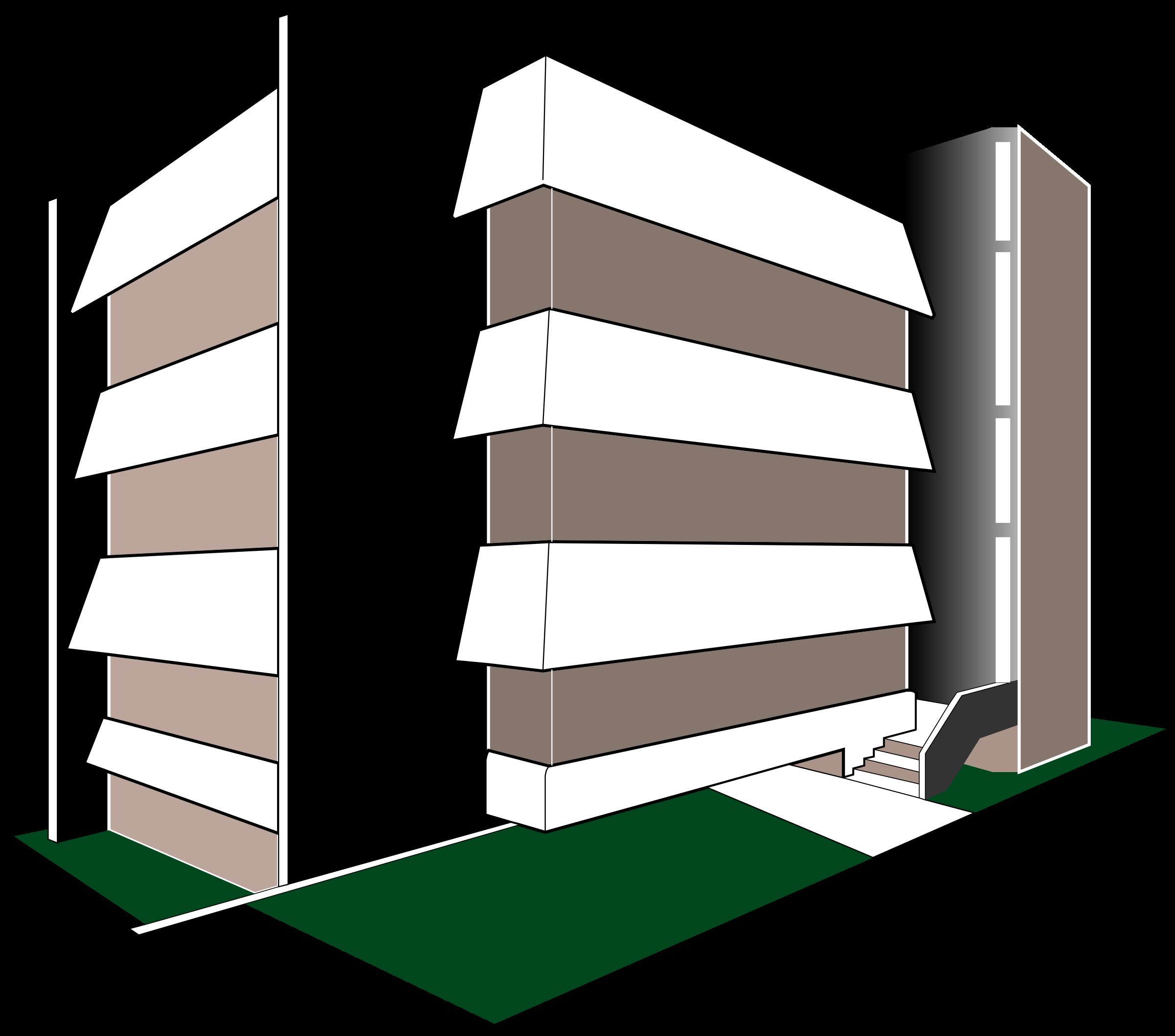Clipart - modern multi-level parking garage jpg