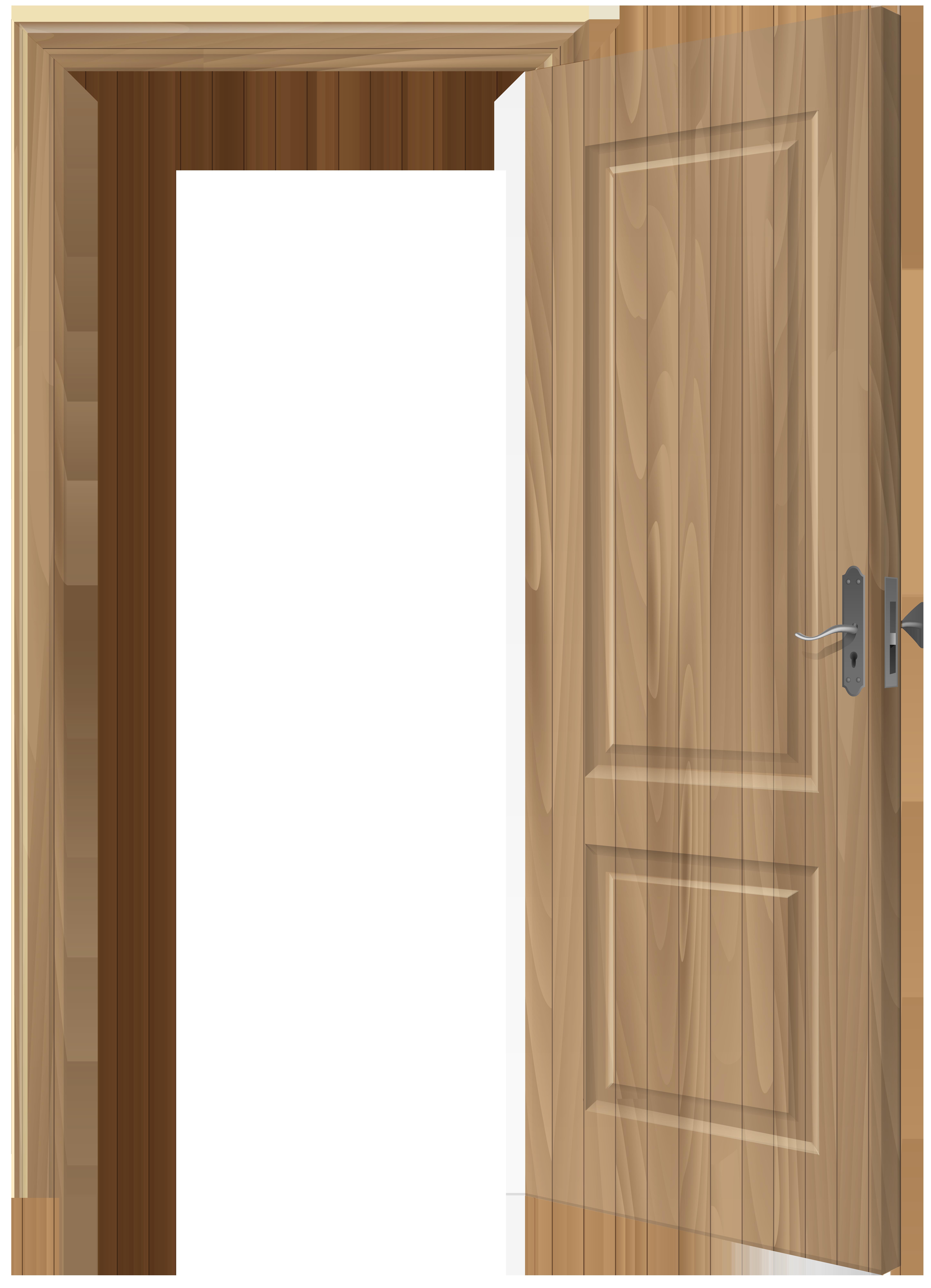 House with open door clipart image royalty free Open Wooden Door PNG Clip Art - Best WEB Clipart image royalty free