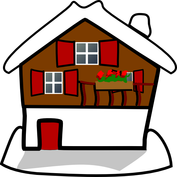 Snow house clipart image transparent download House Covered In Snow Clip Art at Clker.com - vector clip art online ... image transparent download