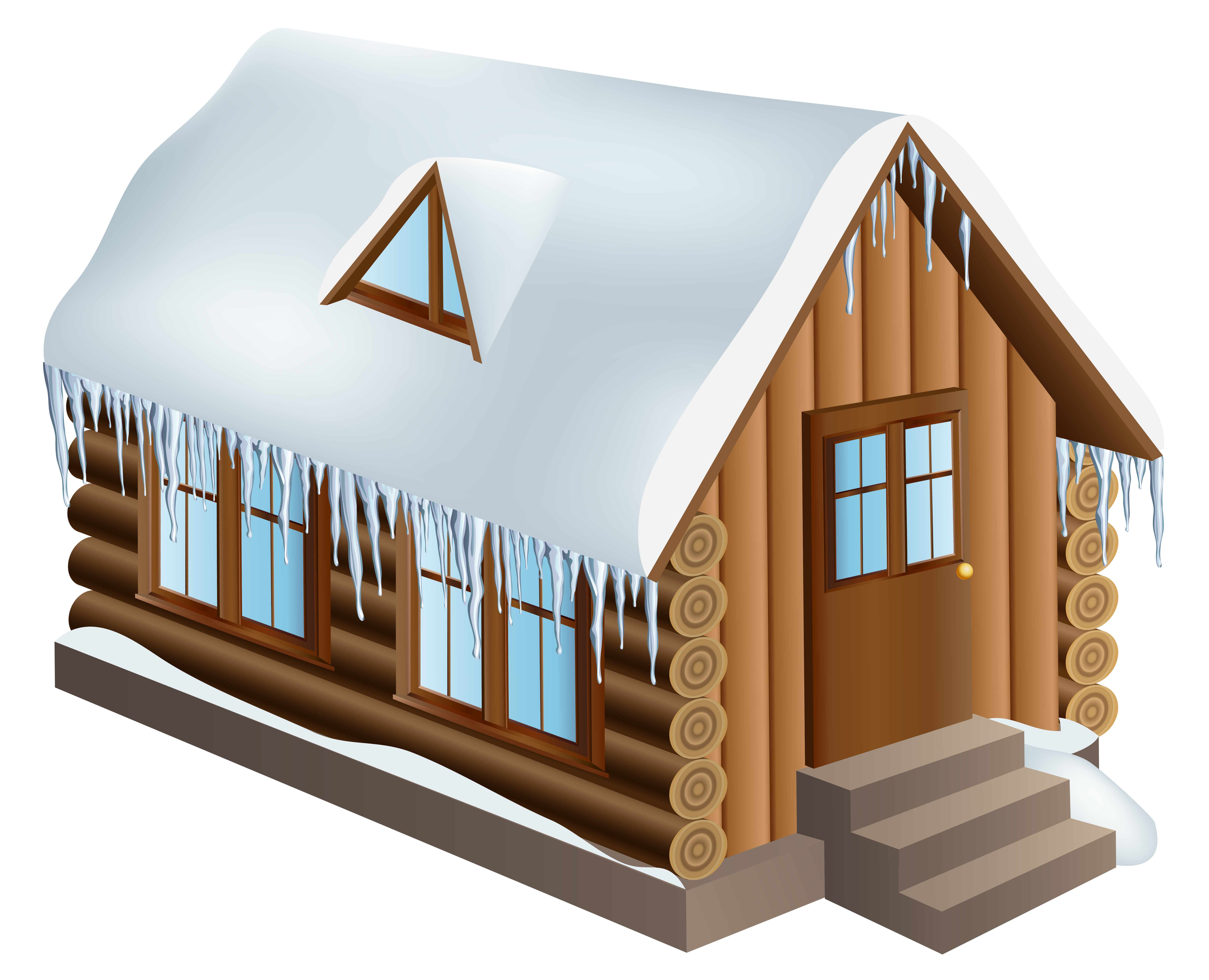 Snow house clipart banner download Snow House Winter Clip art - Winter Cabin House PNG Clip-Art Image ... banner download