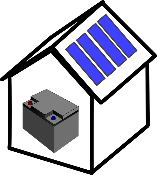 House with solar panels clipart clip freeuse stock House Solar Battery Clip Art at Clker.com - vector clip art online ... clip freeuse stock