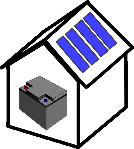 House Solar Battery Clip Art at Clker.com - vector clip art online ... clip freeuse stock