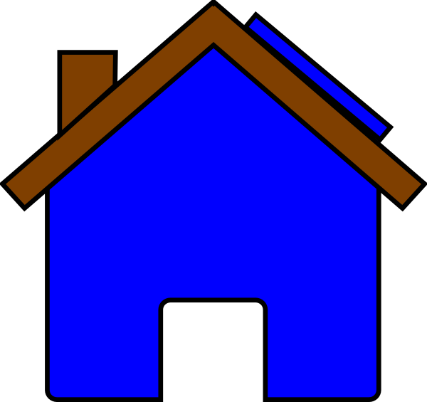 Blue House And Solar Panel Clip Art at Clker.com - vector clip art ... clipart black and white library