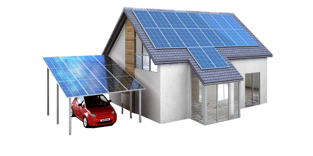 House with solar panels clipart png library Solar Water Heater | KBSol Energetics LLP png library