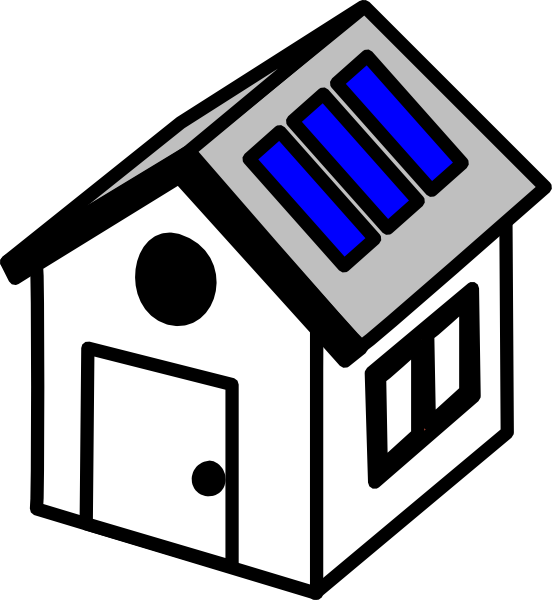 3d House Solar Panels Clip Art at Clker.com - vector clip art online ... vector freeuse library