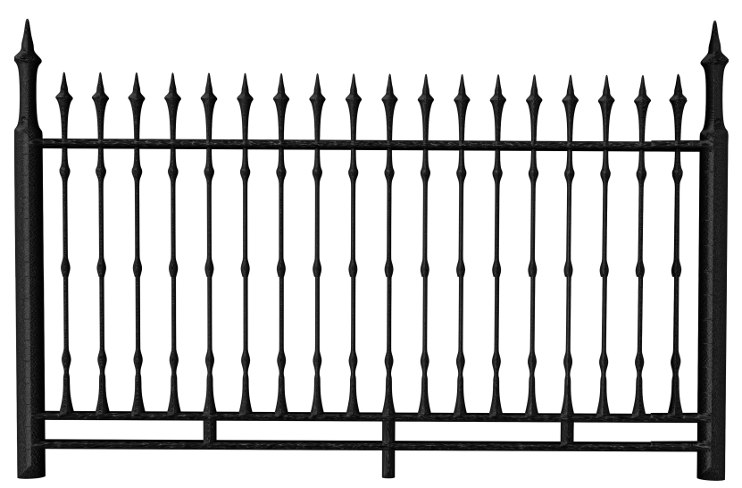 Fence Chain-link fencing The Fetzer Institute - Transparent Black ... vector royalty free download