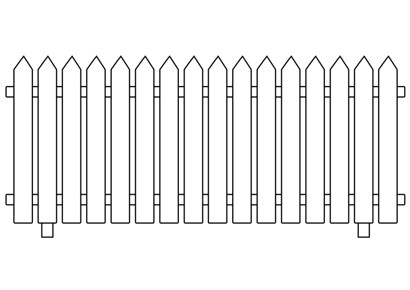 Clipart - White Picket Fence vector freeuse download