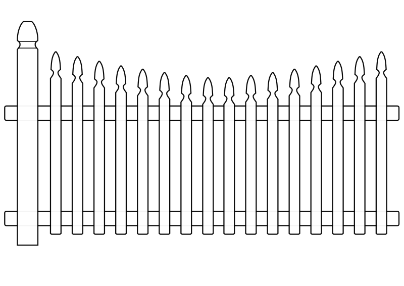 Clipart - White Picket Fence image freeuse