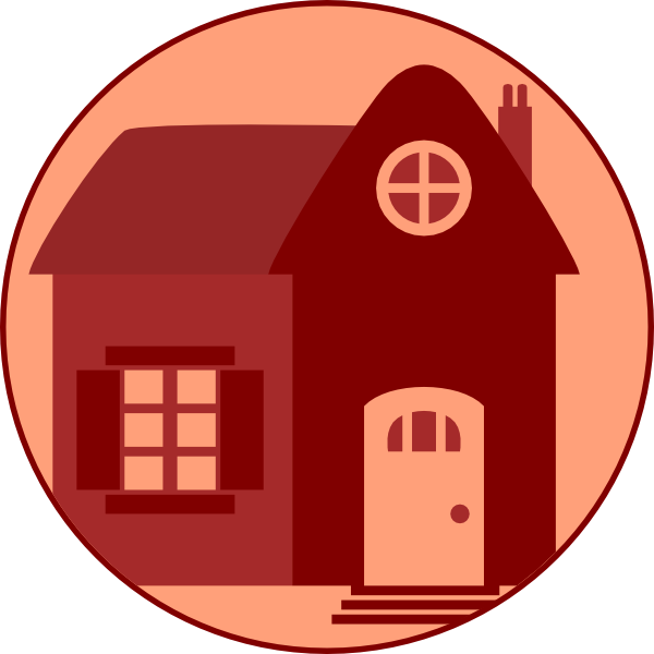 House with windows clipart png transparent stock Little Red House Clip Art at Clker.com - vector clip art online ... png transparent stock