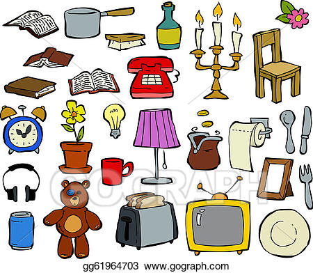 Household goods clipart