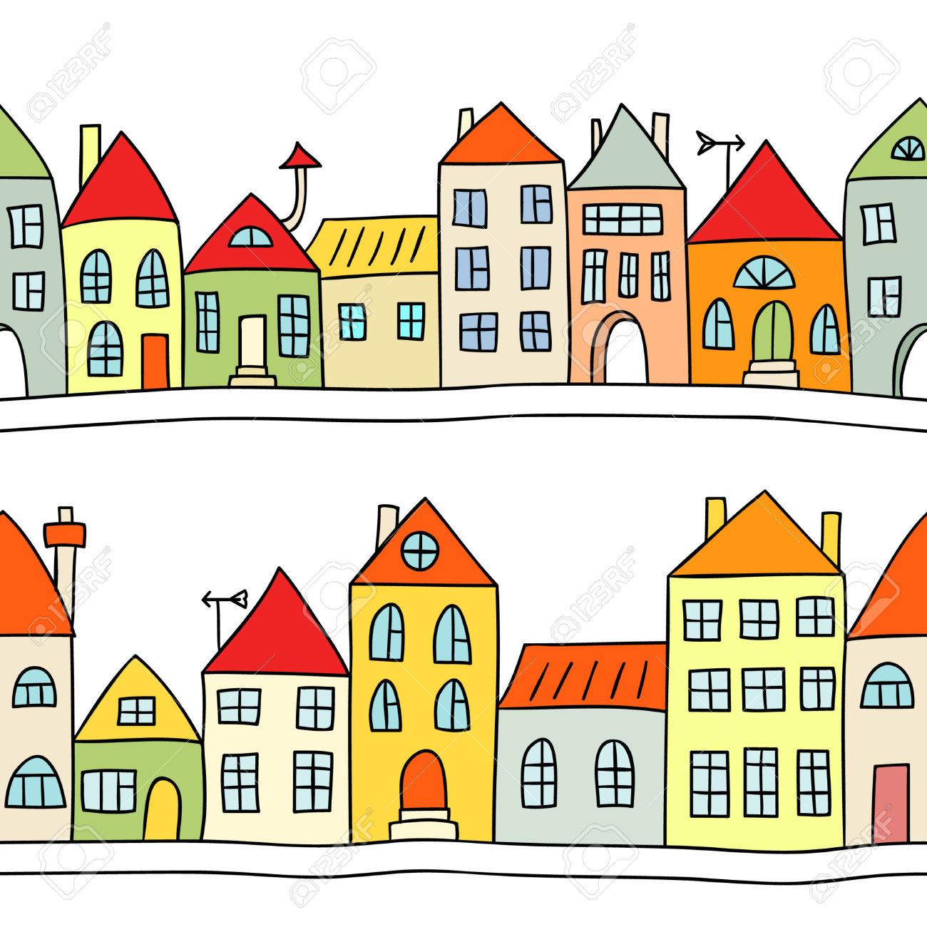 Houses clipart images image free Row houses clipart » Clipart Station image free