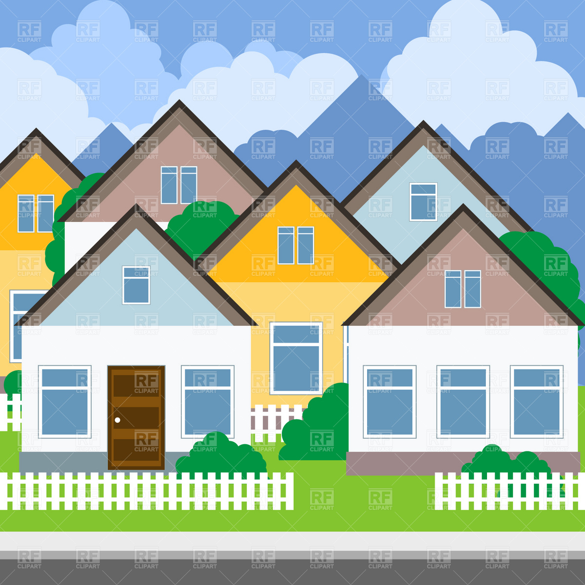 Housing estate clipart graphic royalty free Collection of 14 free Town clipart housing estate crabs ... graphic royalty free