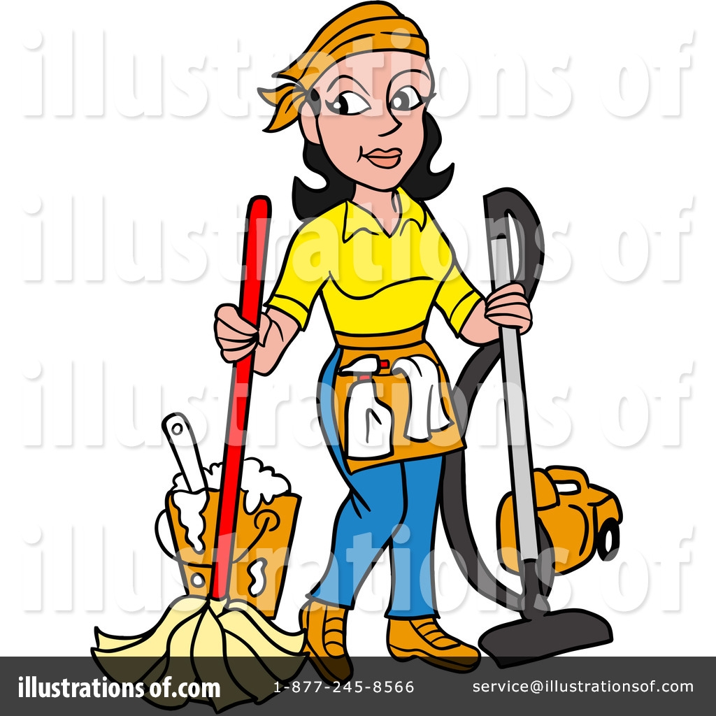 Houskeepers clipart vector freeuse download Housekeeper Clipart #1252868 - Illustration by LaffToon vector freeuse download