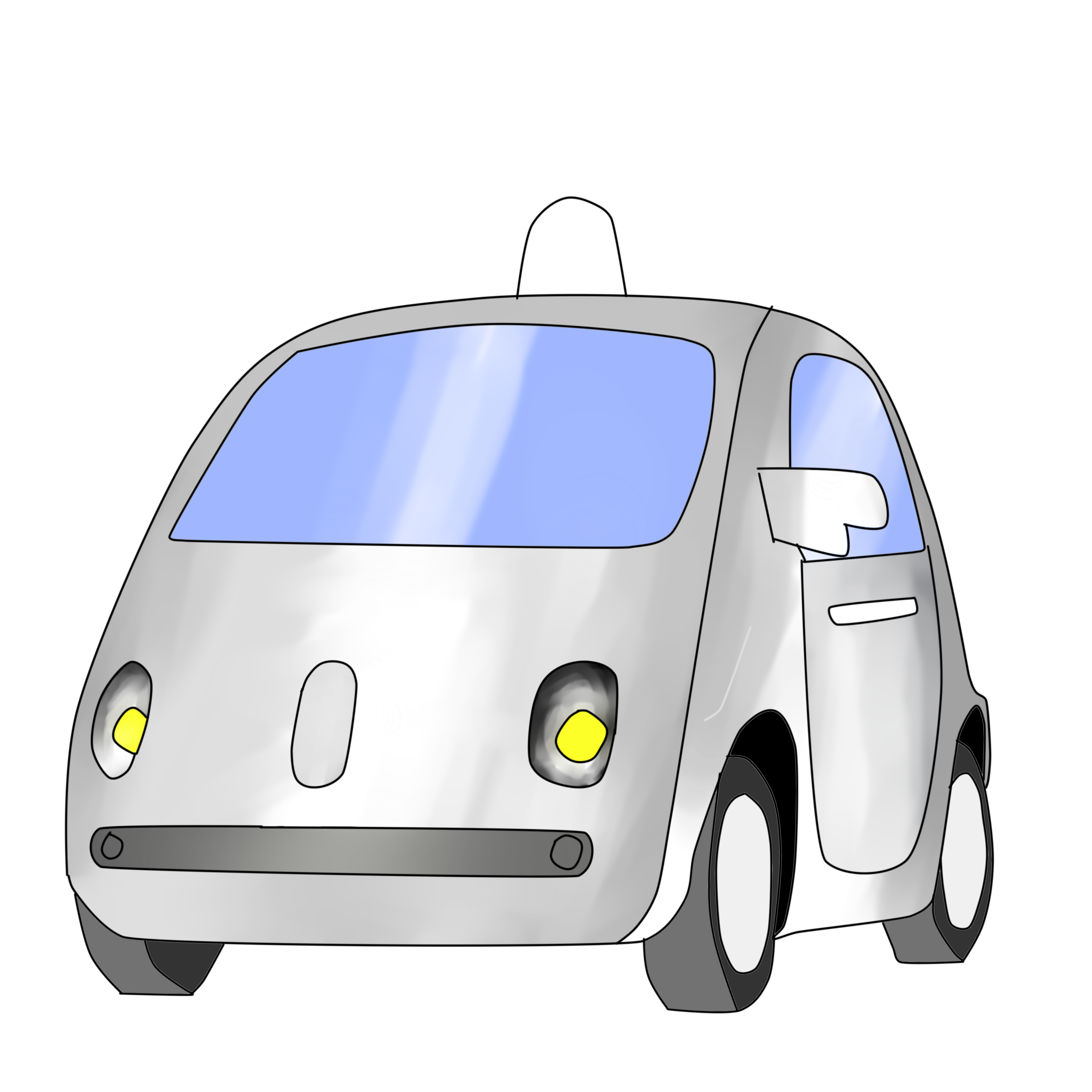 Hovering car clipart image black and white Flashback to the Future – El Estoque image black and white