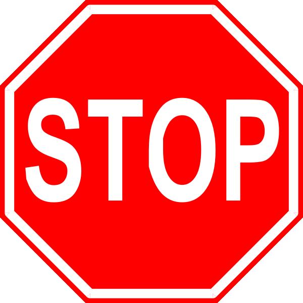 School bus stop sign clipart