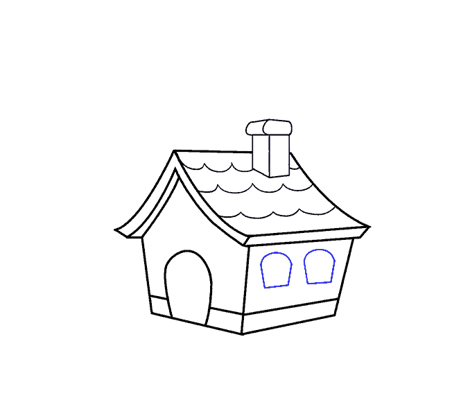 How to Draw a Cartoon House in a Few Easy Steps | Easy Drawing Guides clipart freeuse
