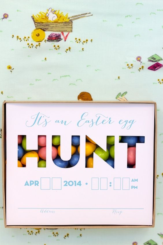 How to make easter egg hunt invitation clipart free image stock DIY Easter Egg Hunt Invitation with FREE Printable | Hopping Down ... image stock