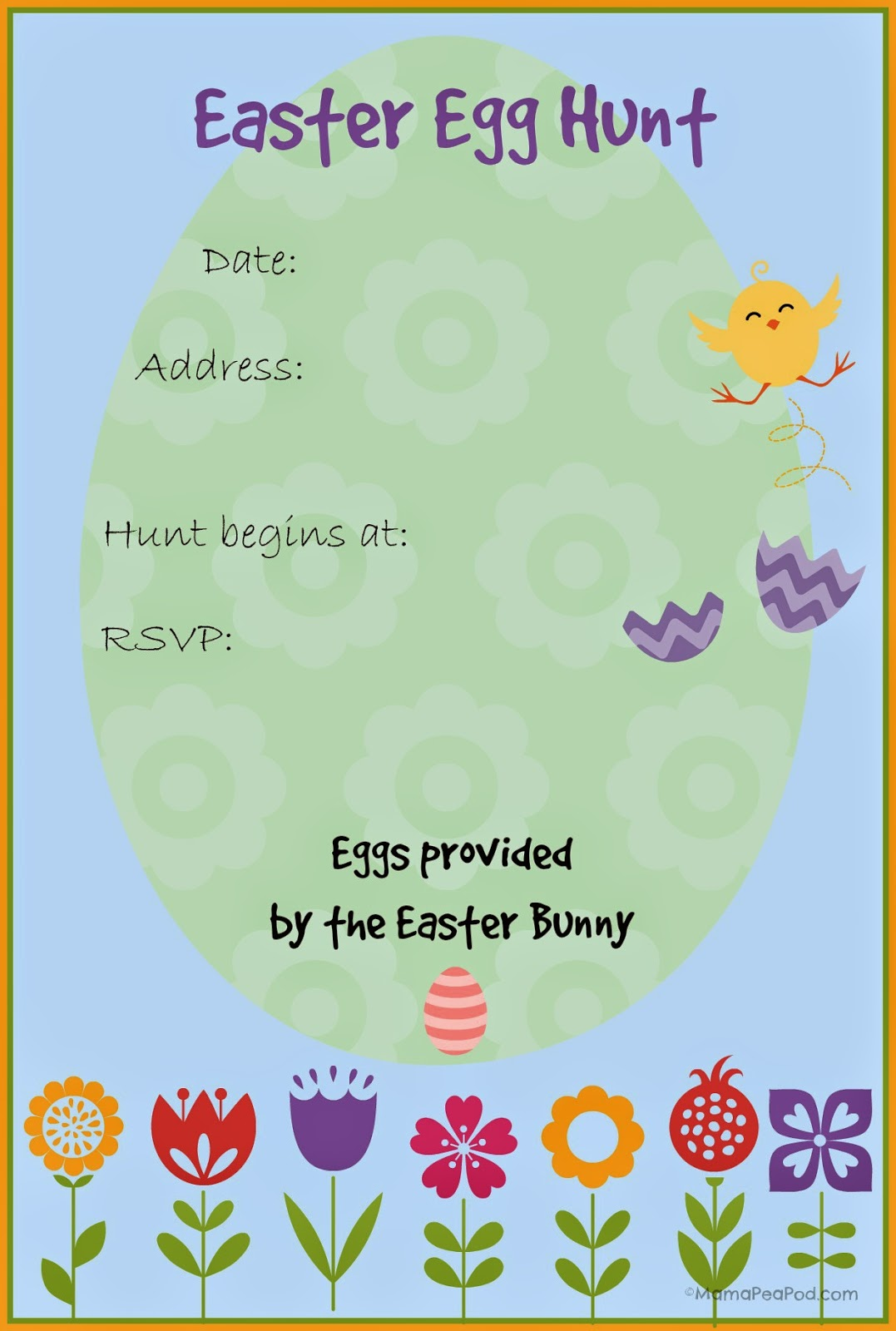 How to make easter egg hunt invitation clipart free vector royalty free Easter Egg Hunt free printable invitation - print however many you ... vector royalty free