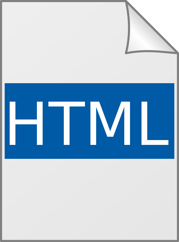 Html icon clipart image black and white Free Clipart: Icon HTML - Ícone | leandrosciola image black and white
