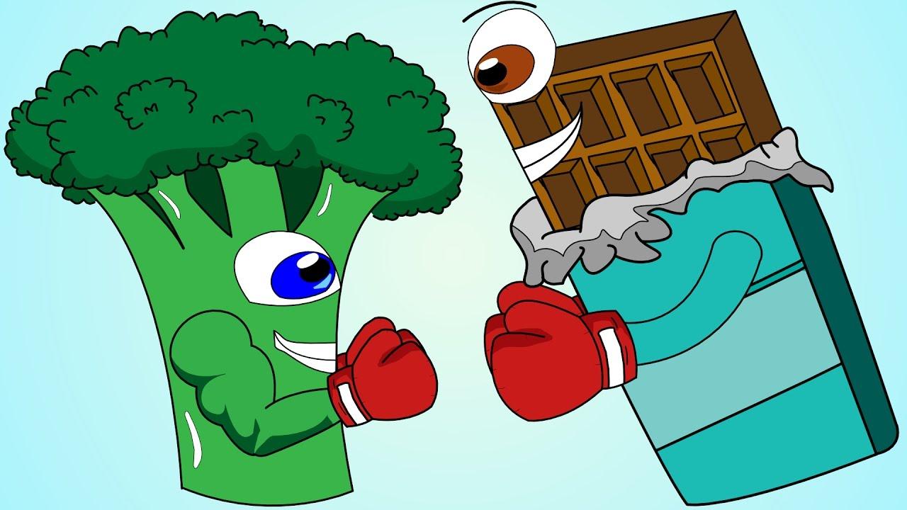 Healthy food vs junk food clipart banner transparent Healthy Food Vs Junk Food Song! banner transparent