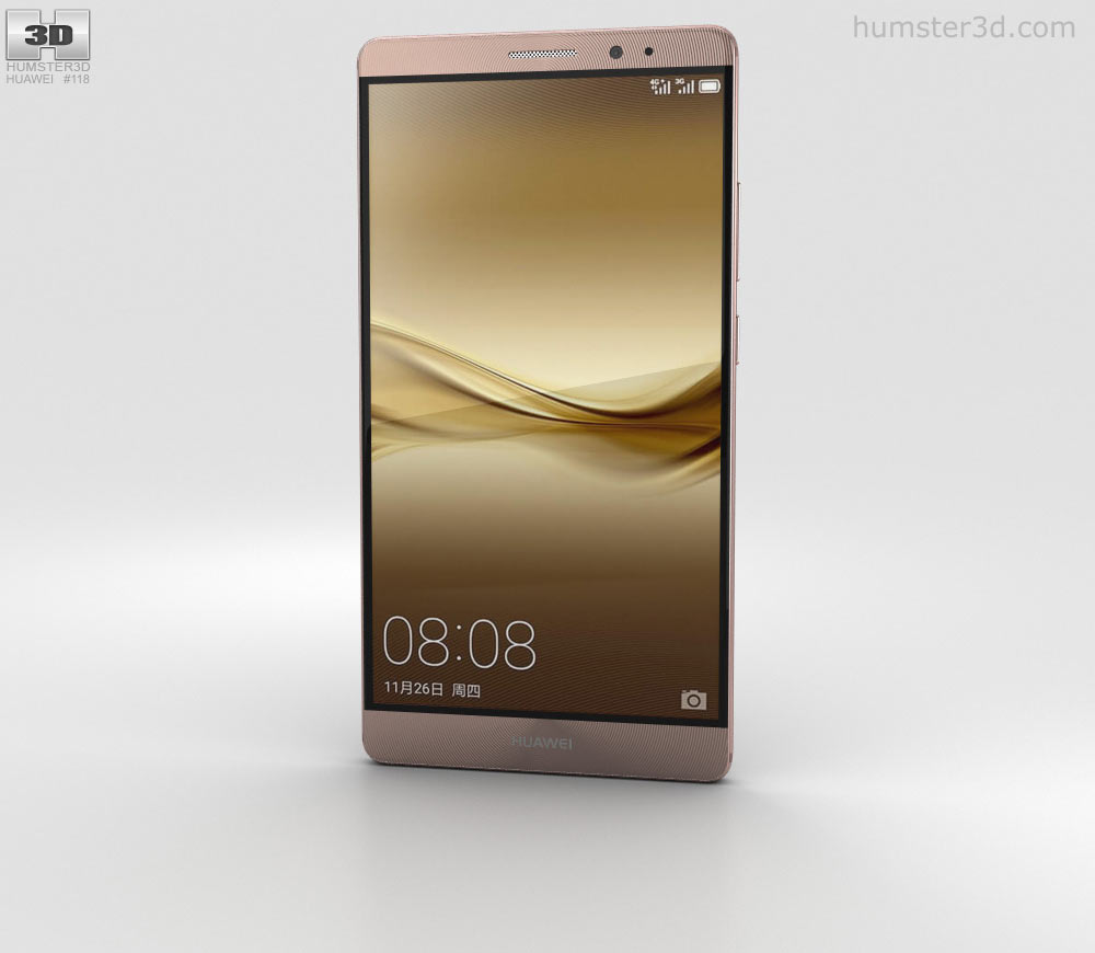 Huawei mate 8 clipart png transparent stock Huawei Mate 8 Mocha Brown 3D model png transparent stock